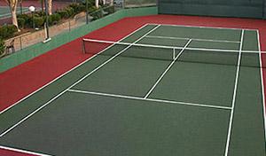 West End tennis court overhead